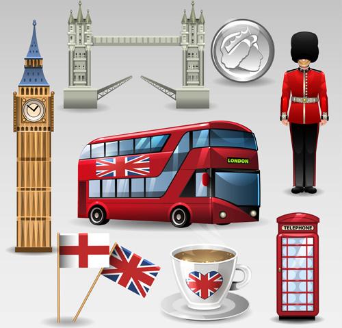 vector great britain design elements set