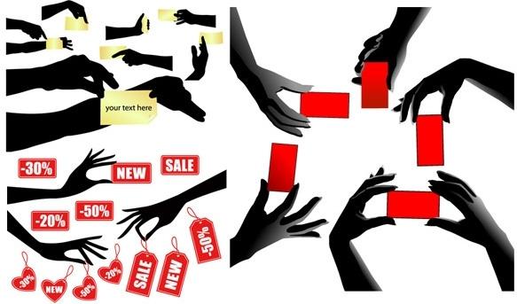vector hand items