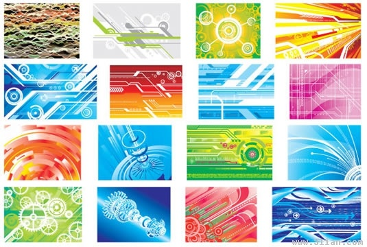 technology background templates colorful modern abstract design