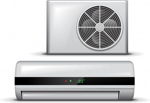 air conditioner icon modern realistic design