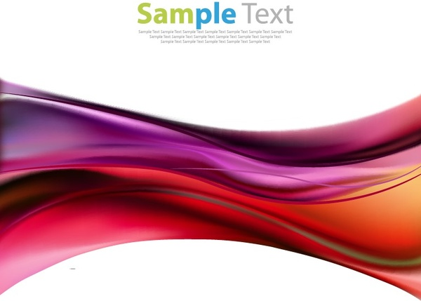 vector illustration of abstract color waves background