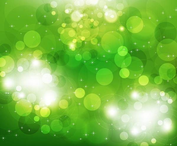vector illustration of green light background