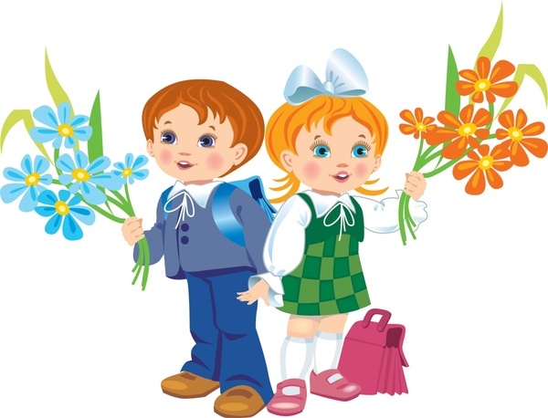 childhood background cute kids icons colored cartoon characters