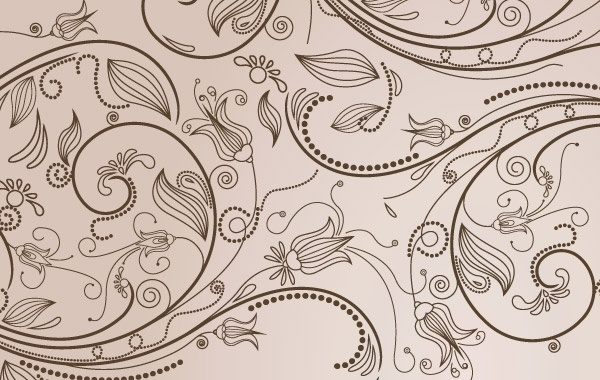 Vector illustration with abstract flowers