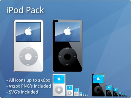 ipod advertisement realistic icons design