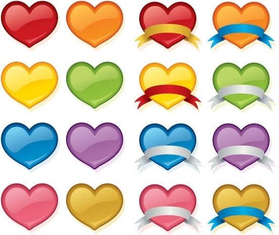 Vector Love Heart Set