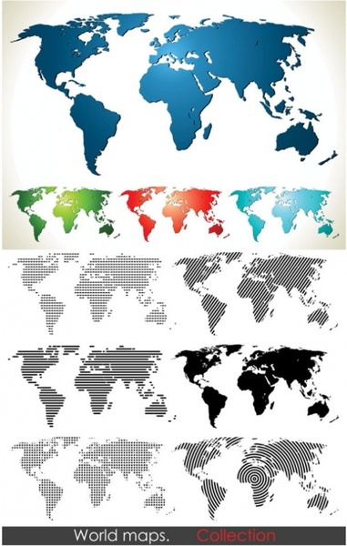 vector map of the world change the archive