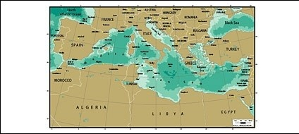 World Map Mediterranean.Vector Map Of The World Exquisite The Mediterranean Map Free Vector