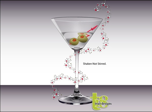 advertisement vector design with cocktail glass illustration