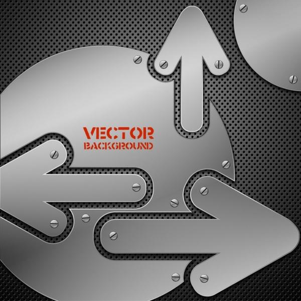 directional background modern metallic decor flat grey