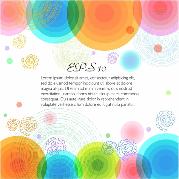 Vector multicolor background with circles