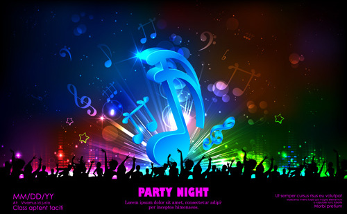 Music Background Images: Vector Music Background Free Vector In Adobe Illustrator