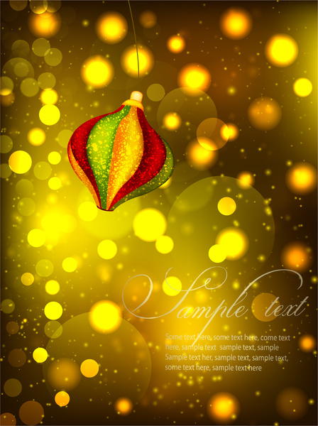 vector of colorful lantern on bokeh background
