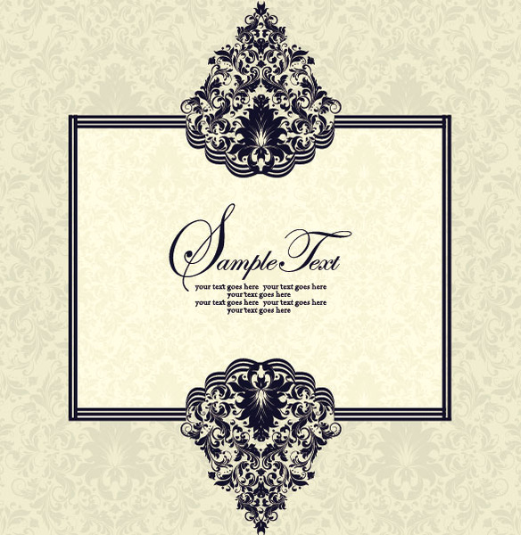 Vector Of Exquisite Vintage Floral Borders Free Vector In