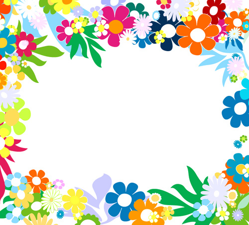 Vector of spring fresh flower frame set Free vector in Encapsulated ...