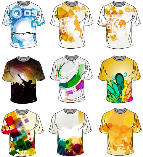 vector of stylish t shirt template