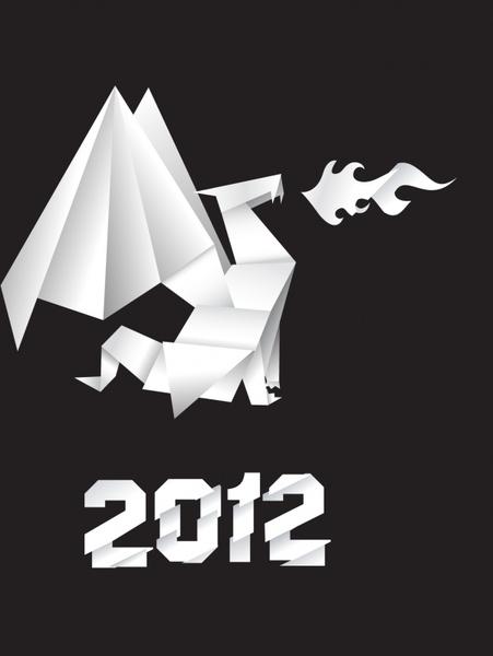 vector origami dragon dragonshaped dinosaurs