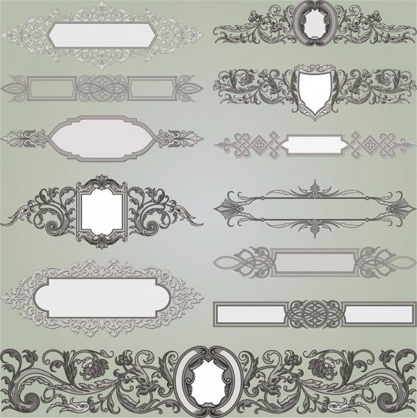 document decorative elements classical european symmetric design