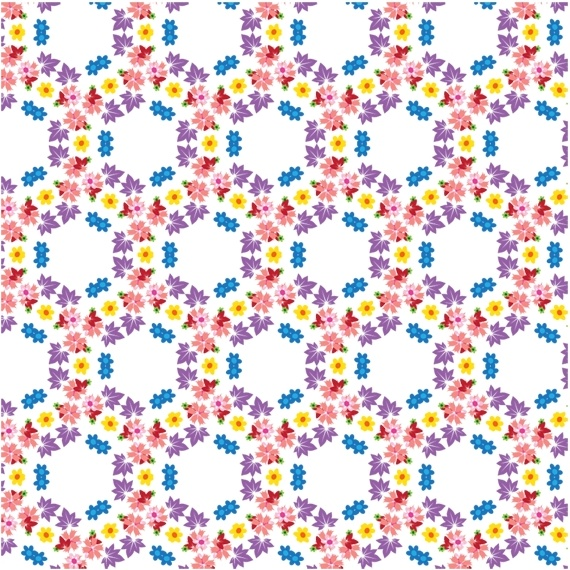 flowers pattern background colorful seamless circles design
