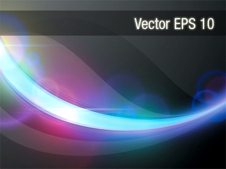 colorful light background abstract curved lines design