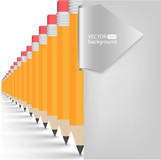 vector realistic learning stationery