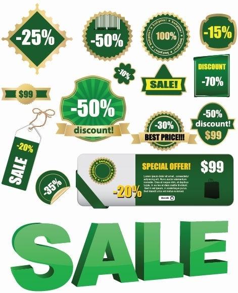 Vector Sale Lables