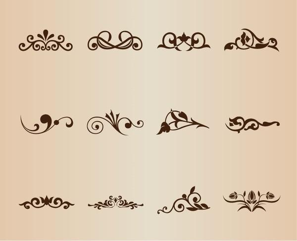 vector set decorative design elements