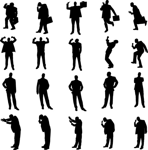 People standing together silhouette free vector download ...