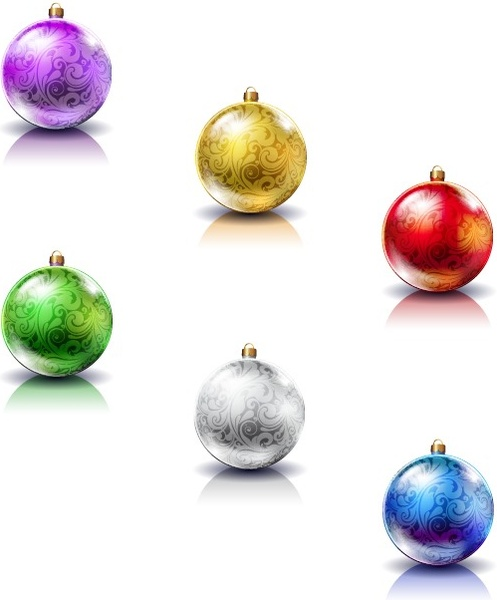 vector set of christmas balls