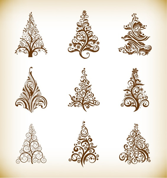 free christmas tree clip art vector images free vector