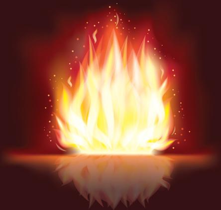 vector set of fire design elements