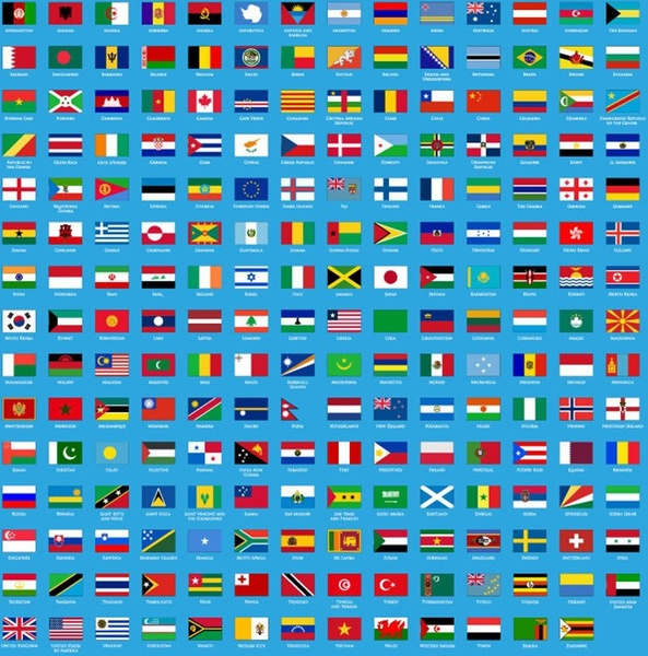 Vector Set of Flags of World