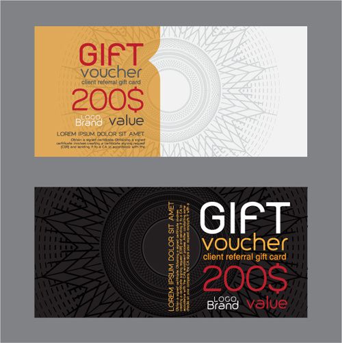 Gift voucher design free vector download (2,959 Free ...