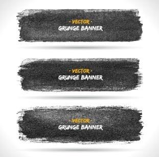 vector set of grunge banner