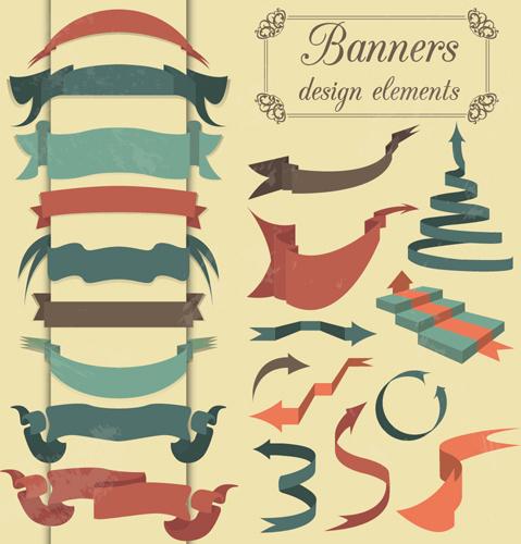 Vintage banner ribbon ...