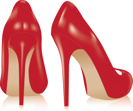 vector set of womens shoes elements