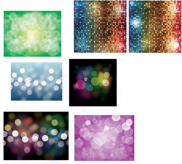 abstract background templates sparkling bokeh lights decor