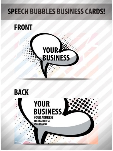 business card templates speech bubble sketch flat classic