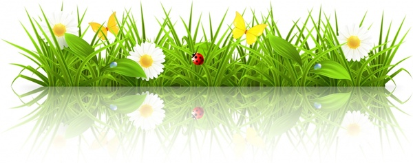 spring grass background shiny colored modern realistic design