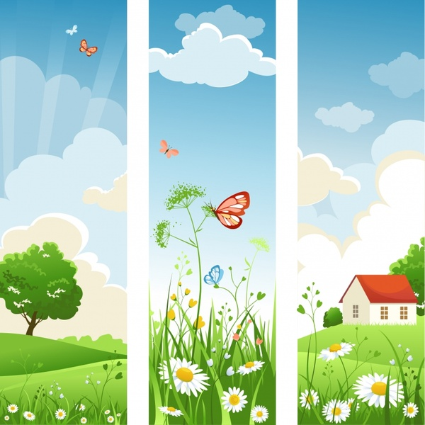 spring scenery backgrounds bright colorful decor vertical design