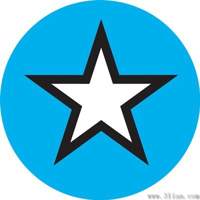 Vector Star Icon On Blue Background Free Vector In Adobe Illustrator
