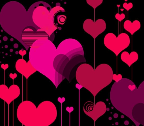 """Vector 'Style"""" Heart Photoshop Brushes"""