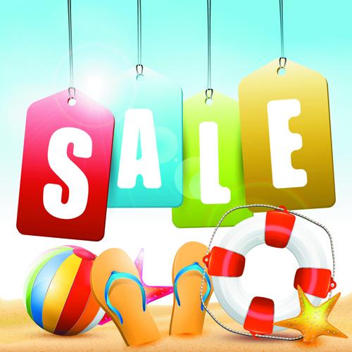 vector summer sale design background graphics