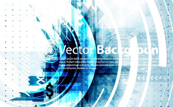 abstract background bright style technology circles decoration