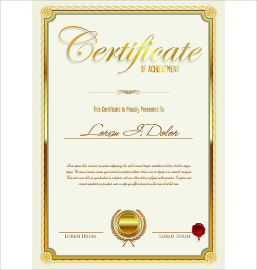 vector template certificates design graphics free vector in