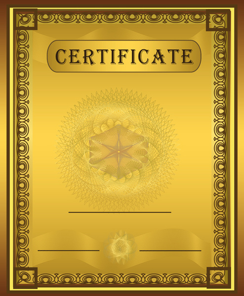 Vector template coreldraw certificate free vector download ...