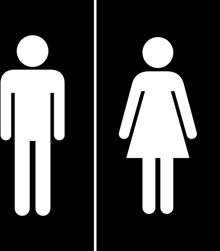 Vector Toilet Sign Man And Woman Design Free Vector In Encapsulated Gorgeous Bathroom Sign Vector Design