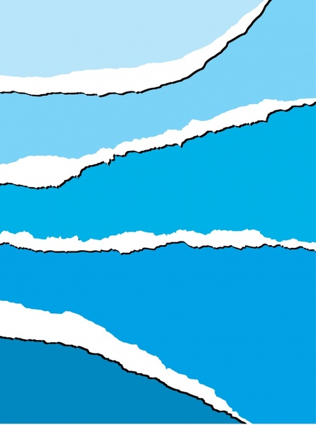 decorative background torn paper decor blue white design