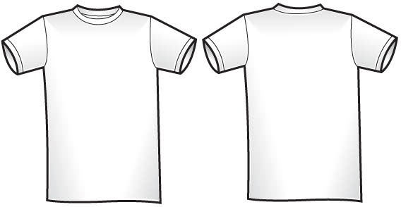 Vector T Shirt Template Free Vector In Encapsulated