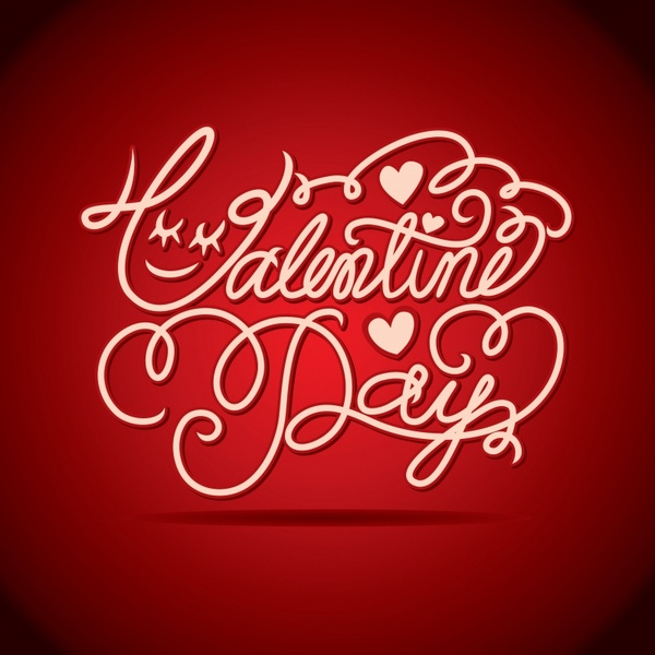 vector valentine background wordart